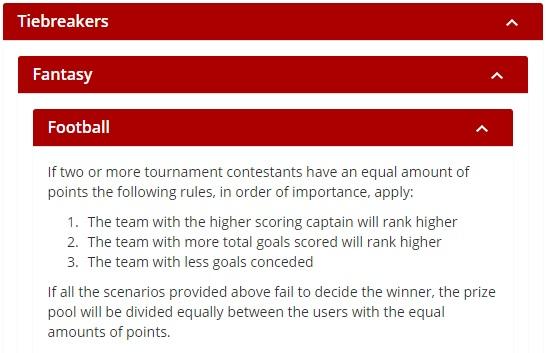 Fantasy Football Portal - Fanaments Tie-Breakers