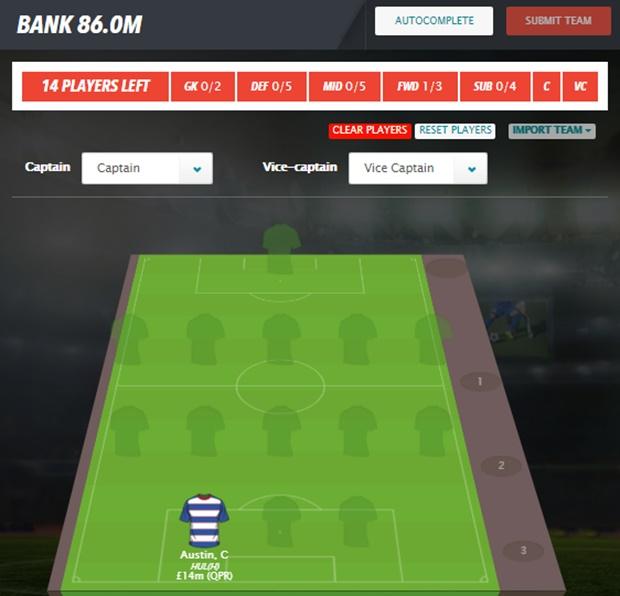 Fantasy Football Portal - FantasyBet Example