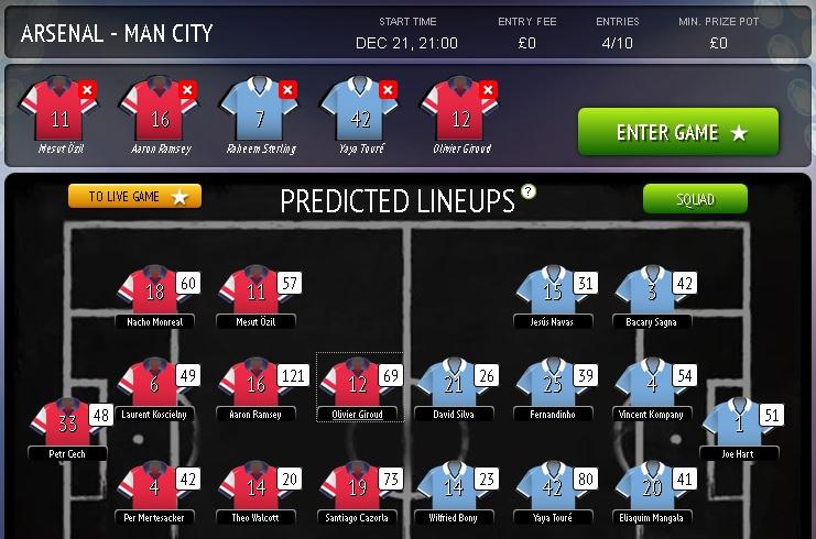 Fantasy Football Portal - Picklive Team Selection