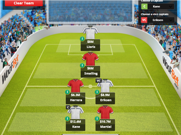 EPL 6-a-side Team of the Week