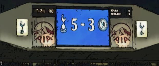Spurs 5 Chelsea 3